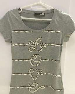 [BN] Inspired LOVE MOSCHINO Bedazzled Love T-shirt