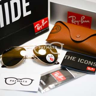 Authentic Ray Ban Aviator Gold Frame Lens Brown Polarized