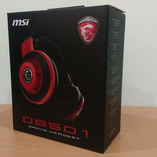 🚚 【全新現貨】【吃雞必備】【電競耳機】微星 MSI DS501 GAMING 電競耳麥 含稅開發票