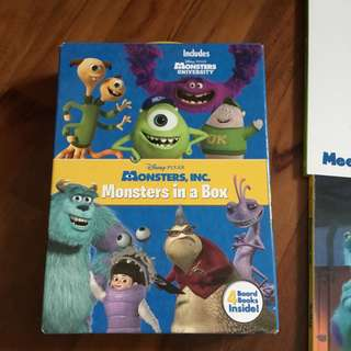 Brand new Monster in a box board book - set of 4