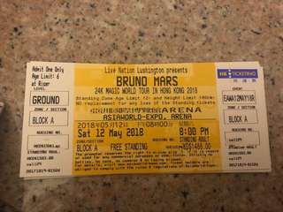 Bruno Mars World Tour in HK 2018