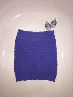 Blue Tube Skirt