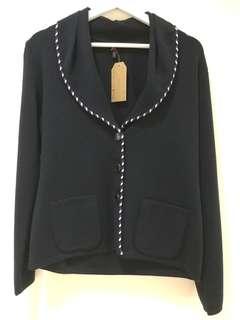 Escada Knit Jacket 深藍色針織外套