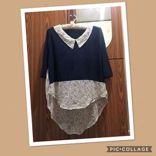 Navy blue cotton top