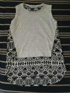 Preloved Long back sleeveless