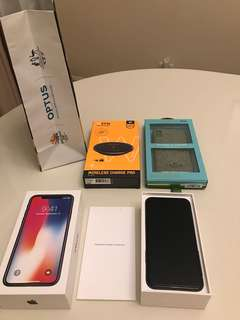 Brand New Iphone X Space Grey 256 GB + 3 gifts