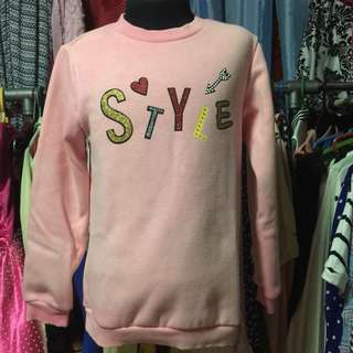 Sfit Style Pink Sweater