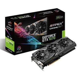 Asus ROG Strix GeForce GTX 1070 OC edition 8GB GTX1070 ( 3 yrs Local Warranty )