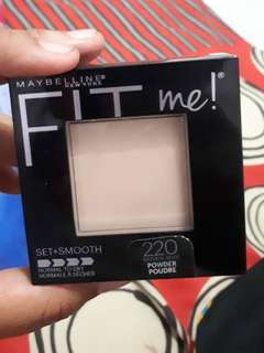 Bedak maybelline fit me set + smooth shade 220