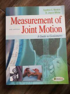 Measurement of Joint Motion: 4th Ed