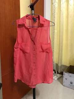 🚚 罩衫(紅)