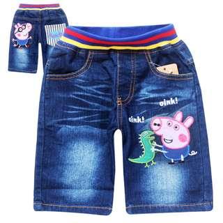 <SALE> Boy's Denim Shorts/ George Pig CP639