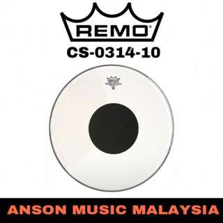 Remo CS-0314-10 Batter Controlled Sound Clear Black Dot Top Drumhead, 14''
