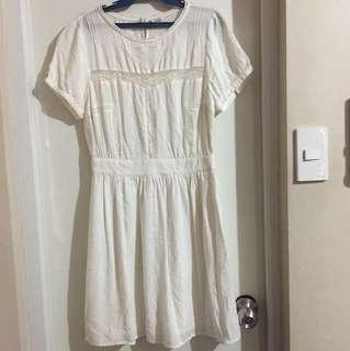 Forever 21 white dress small