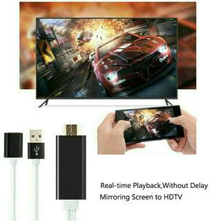 TV HDMI cables for iPhone, iPad , Android & Others Type C usb