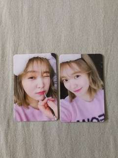 Red Velvet Bad Boy Yeri photocard set