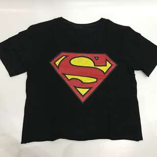 Crop tee superman