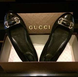 AUTH GUCCI Bamboo Flats Shoes