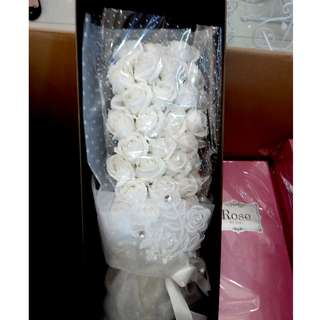 Soap flower hand bouquet