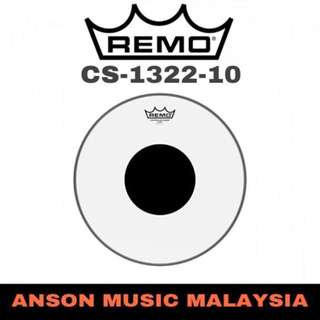 Remo CS-1322-10 Controlled Sound Clear Black Dot Bass Drumhead, 22''