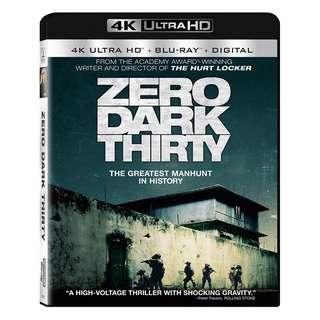 🆕 Zero Dark Thirty 4K UHD + Blu Ray