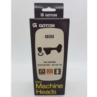 GE350 Gotoh Bass Machine Heads - Cosmo Black (L2+R2)