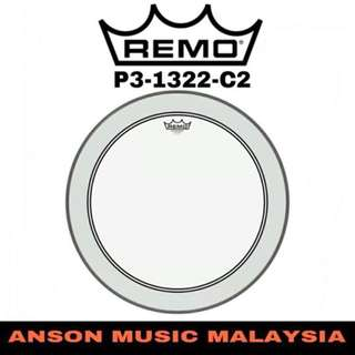 Remo P3-1322-C2 Powerstroke P3 Clear Bass Drumhead, 22''
