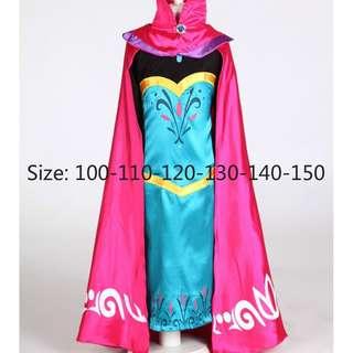 Disney Frozen Anna Princess Girl Dress Accessory Set