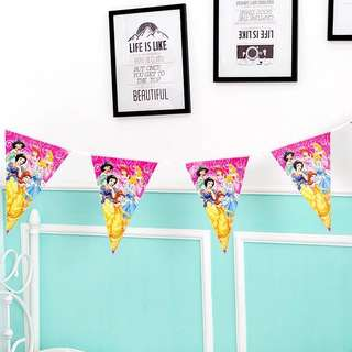 💕 Disney Princess party supplies - party banner / bunting / party deco