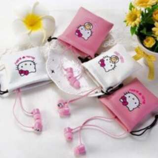 L7 HELLO KITTY EARPHONE WITH POUCH