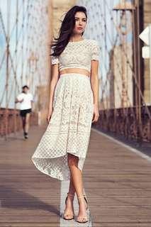 🚚 TCL BNWT Leona Crochet Top in White (Premium)