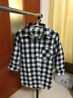 🚚 黑白格襯衫