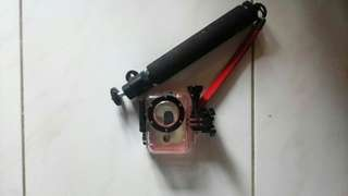 Waterprof dan monopod yi action cam
