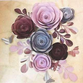 Paper flower set