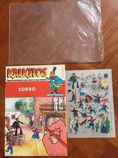Vintage 1970s Set of 2 Kalkitos Zorro and Trans Fix Space Rubdown Transfers Unused