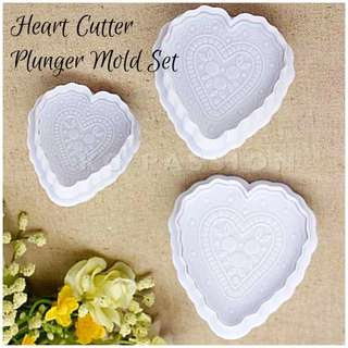 ❤️ HEART CUTTER PLUNGER MOLD TOOL SET Cake Decorating Tool for Cookies • Fondant Cake & Cupcake • Bread Dough • Pastry • Sugar Craft • Jelly • Gum Paste • Polymer Clay Art Craft •