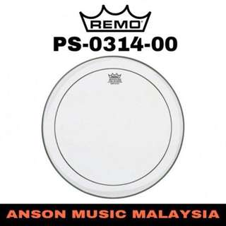 Remo PS-0314-00 14'' Batter Pinstripe Clear Drum Head