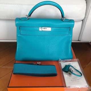 極罕Hermes Turquoise Kelly Amazone bag