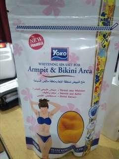 Yoko Whitening Spa Salt for Armpit & Bikini Area