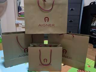 Aigner Paperbags for Sale!
