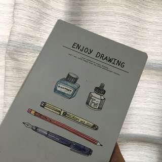 NO LINE PLAIN DRAWING NOTEBOOK FROM FULLY BOOKED