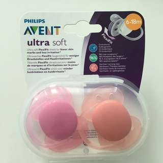 Brand New Sealed Philips Avent Ultra Soft Pacifiers