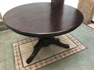 Meja Makan Kayu Jati Bundar   Teak Round Dining Table