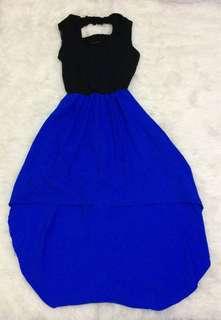 Dress (blue &lack)