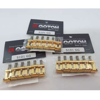 Gotoh S101 Saddle Set - Gold