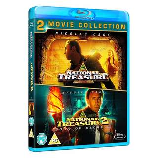 National Treasure 1 & 2 Blu-ray