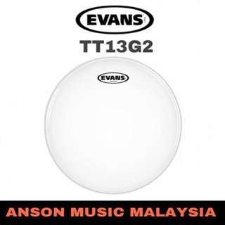 "Evans TT13G2 13"" G2 Clear Snare/Tom/Timbale Drumhead"