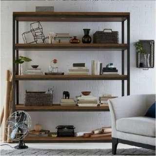 E101, Hari Raya Hot Sale! PO - Retro/Loft/Industrial Solid Wood Display rack, Multi-levels Display Shelves, Display shelf, E