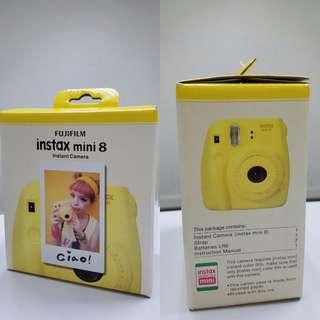 New Fuji Instax Mini 8 黃色