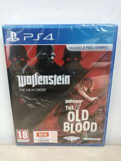 (Brand New) PS4 Wolfenstein: The Two Pack / R2